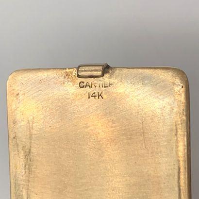 """. CARTIER  RETRACTEUR de CIGARETTES en or jaune (585‰) 14 carats, monogrammé """" RA..."""