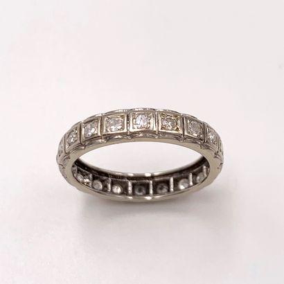 ALLIANCE en or (585‰) 14 carats, serti de...