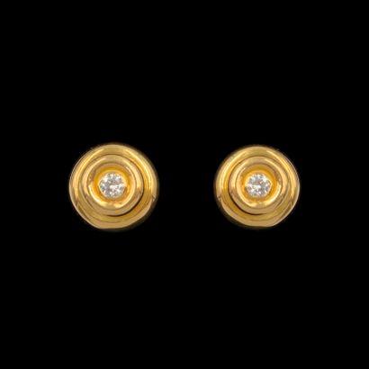 Paire de CLOUS d'OREILLES circulaires en...