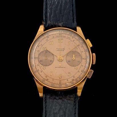 TITUS  BRACELET MONTRE ronde chronographe,...