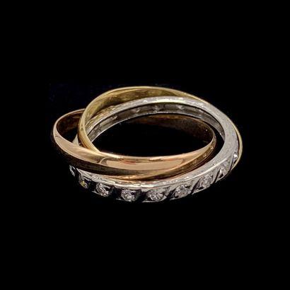 ALLIANCE trois anneaux en platine (min. 800‰),...