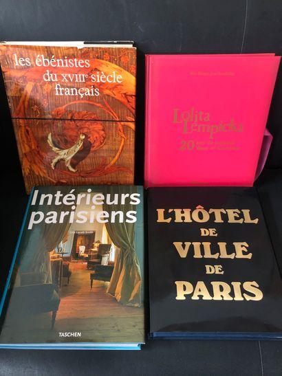 Lot comprenant    Les ébénistes du XVIIIème...