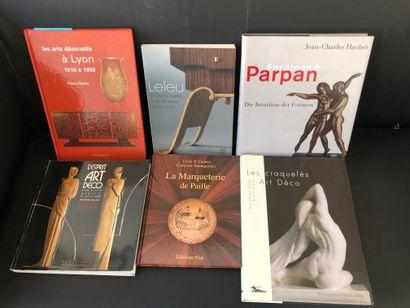 Lot comprenant  JC HACHET, Ferdinand PARPAN,...