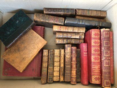 Ensemble de livres XVIIIème et XIXème si...