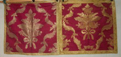 Deux carrés, style du XVIIIème siècle, cannelé...