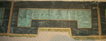 Trois lambrequins cousus pour un dais, XIXème...