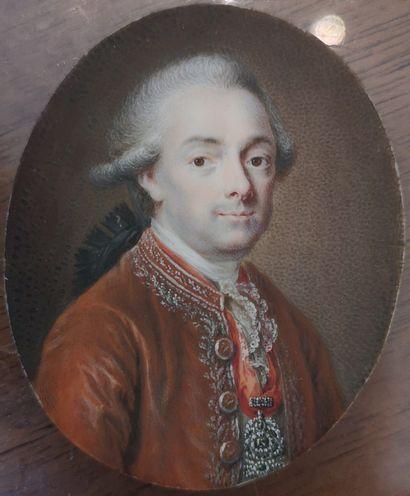 École française, circa 1780. PORTRAIT D'UN...