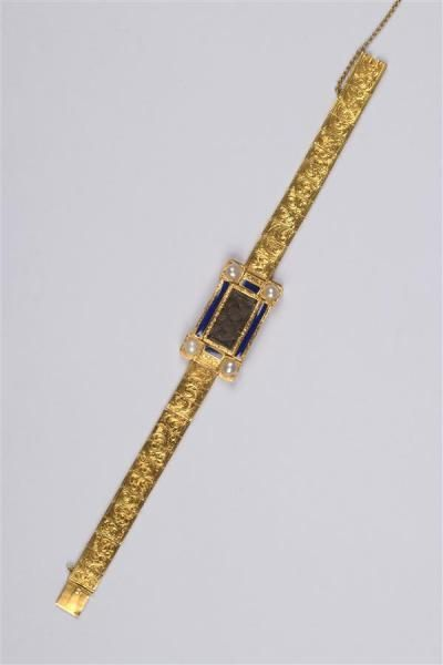 Travail français, circa 1840.  Rare bracelet...