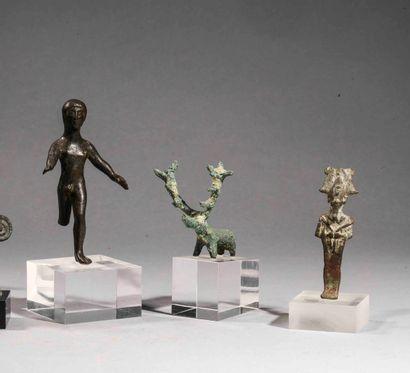 Statuette d'Hercule (?)  Bronze à patine...