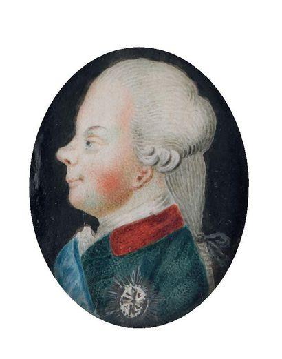 L'EMPEREUR PAUL Ier DE RUSSIE, CIRCA 1780....