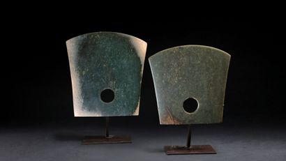 Hache cérémonielle en jade ,de style néolithique....
