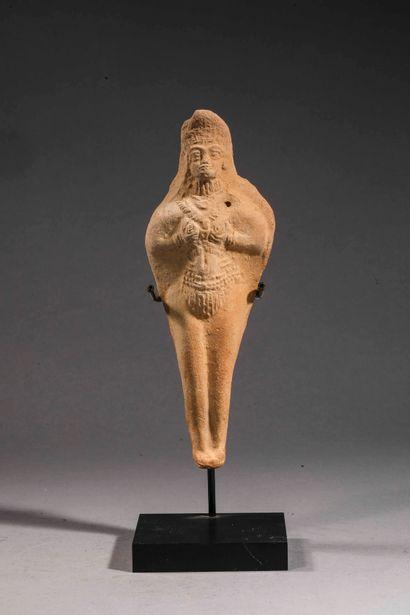 Statuette moulée représentant une femme nue...