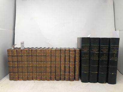 Lot de livres reliés et brochés dont:  -...
