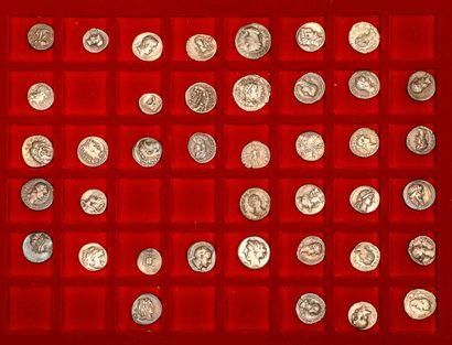 Lot de 11 monnaies divisionnaires grecques...