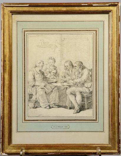 Pierre-Alexandre WILLE (Paris, 1748 - 1821)...