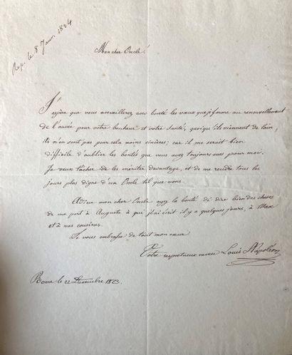 Rare lettre de jeunesse écrite à l'âge de...
