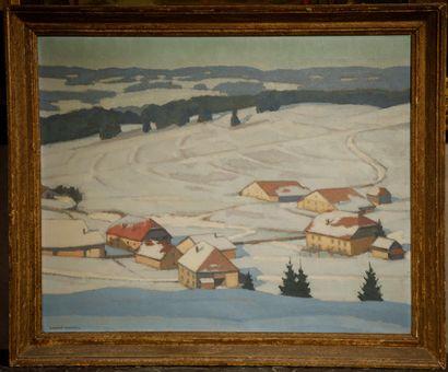 Robert FERNIER (1895-1977)  Hameau de Chaon...