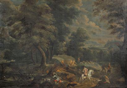 Ecole française du XVIIème siècle  Le Seigneur...