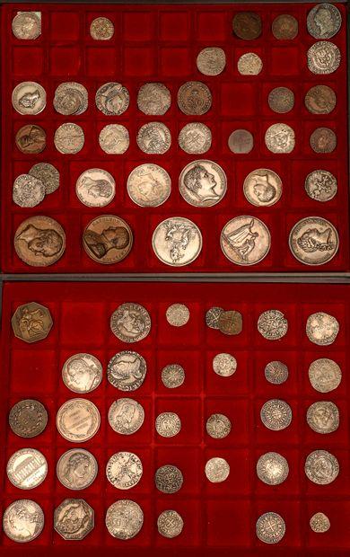 Lot de 52 monnaies Lot de 52 monnaies féodales,...