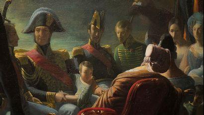 Joachim Issarti, c. 1840. LE RETOUR EN BARQUE DU CHÂTEAU DE SAINT-CLOUD AU...