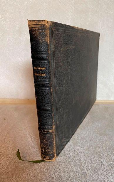[MANUSCRIT] Calendrier Historique. Manuscrit...