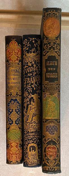 [Cartonnage romantique] Lot de 3 ouvrages...