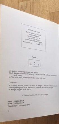 LA FAIENCE DE RUBELLES. Editions AMATTEIS.1988. FAIENCERIE D'ONNAING (Nord) MOUZIN...