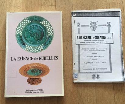 LA FAIENCE DE RUBELLES. Editions AMATTEIS.1988....