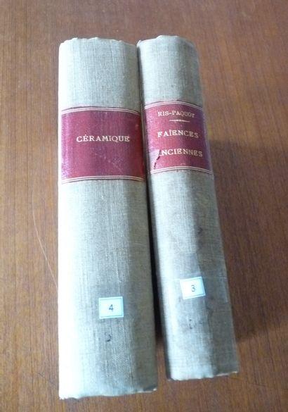 FAIENCES ANCIENNES .  RIS PAQUOT .1877  Ouvrage...