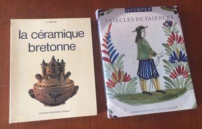 QUIMPER.3 SIECLES DE FAIENCES. Editions Ouest France. Ville de Quimper.1990 LA CERAMIQUE...