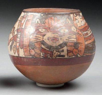 Vase hémisphérique décoré de divinités guerrières...
