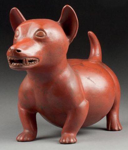 Grand et beau chien gras modelé avec dextérité...