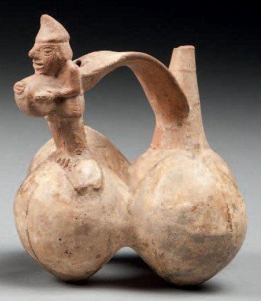 Vase à quatre panses en forme de fruit, l'une...