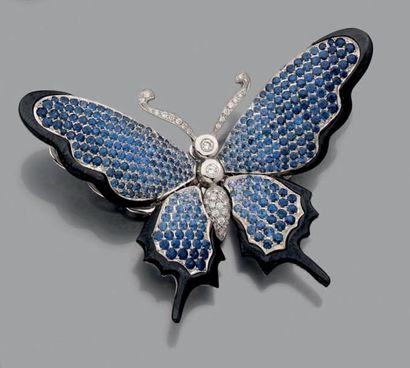 Beau CLIP DE CORSAGE «papillon» tremblant,...