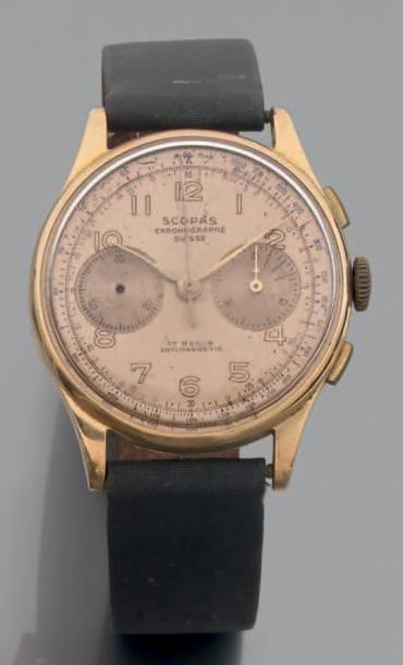 BRACELET MONTRE ronde, chronographe, deux...