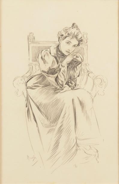 Alfons Maria MUCHA (Ivan?ice, 1860 - Prague, 1939)