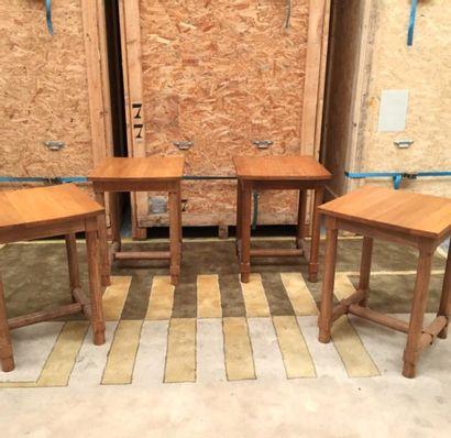 Jacques ADNET (1900-1984)  2 tables hautes...