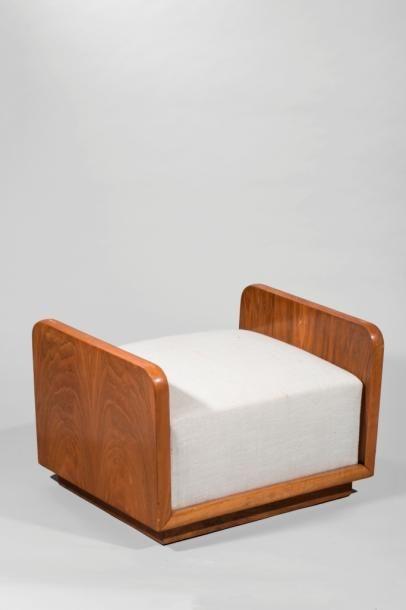 Pierre CHAREAU (1883-1950)  Ottoman du fauteuil...