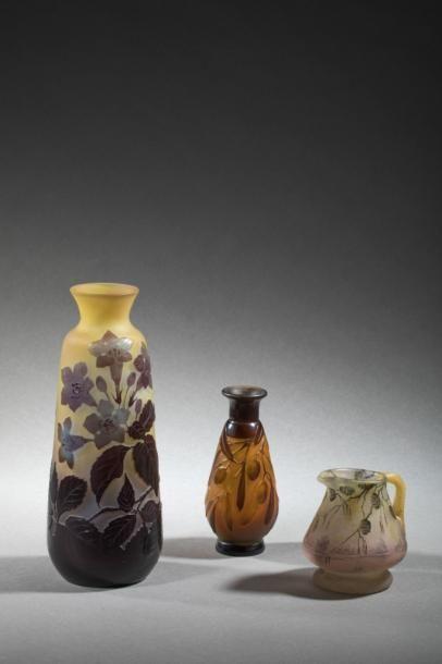 Etablissement Gallé  Vase de forme ovoïde...
