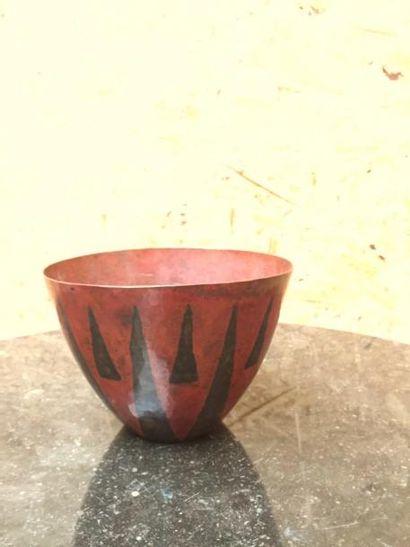 Maurice PERRIER (XXème siècle)  Vase tronconique...
