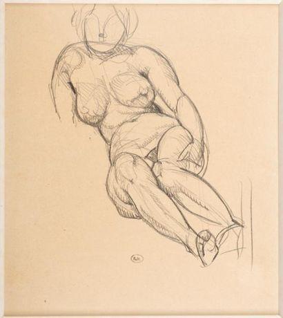 Gustave MIKLOS (1888-1967)  Le modèle nu...