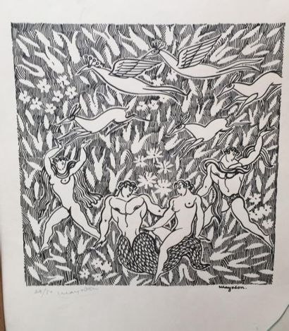 Jean MAYODON (1893-1967)  Deux lithographies...