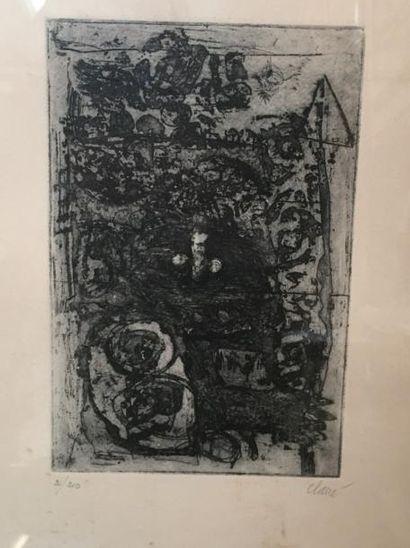 Antoni CLAVE (1913-2005)  Composition  Gravure,...