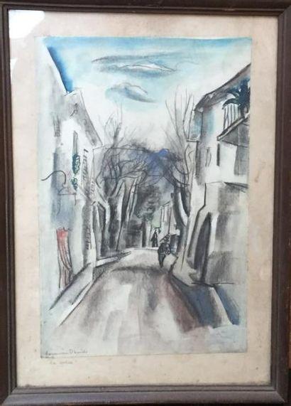 David Hermine (1886-1970)  Ruelle  Litho...