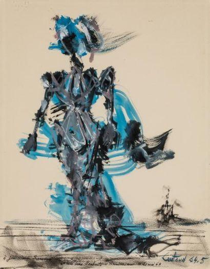 Lucien COUTAUD (1904-1977)  Danseuse  Gouache...