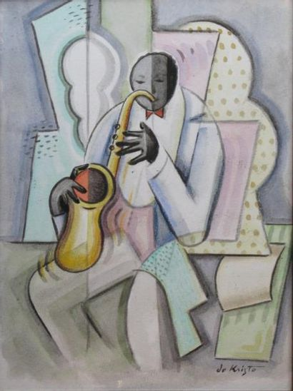 Bela DE KRISTO (1920-2006)  Le saxophoniste...