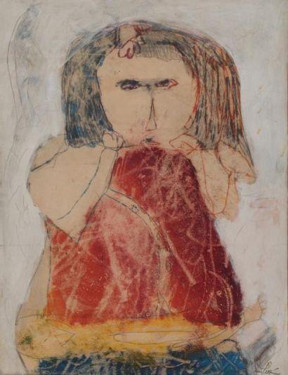 Gina PELLON (1926-2014)  Portrait de femme...