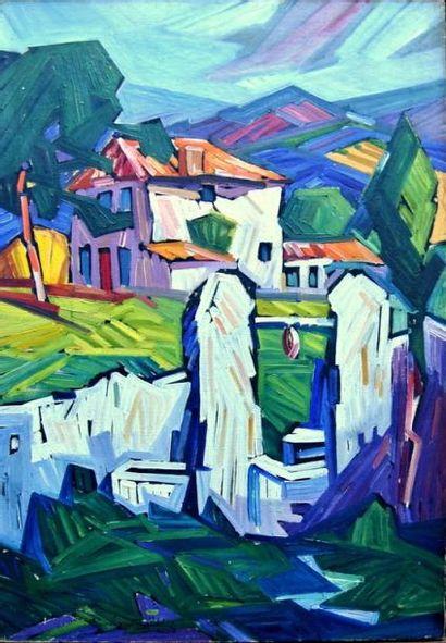 Raoul VAN MALDERE (1875-1947)  Paysage de...