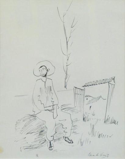 257D  Eduardo VICENTE (1909-1968)   Paysan...