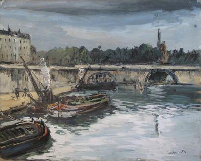 263C  Robert LAVOINE (1916-1999)   Le Port...